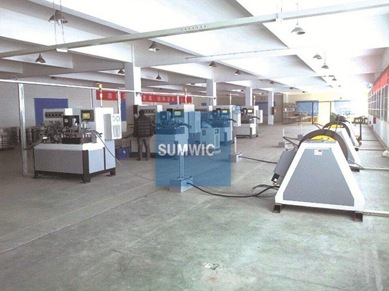 Four sets transformer core winding machine was running in Cixi's factory