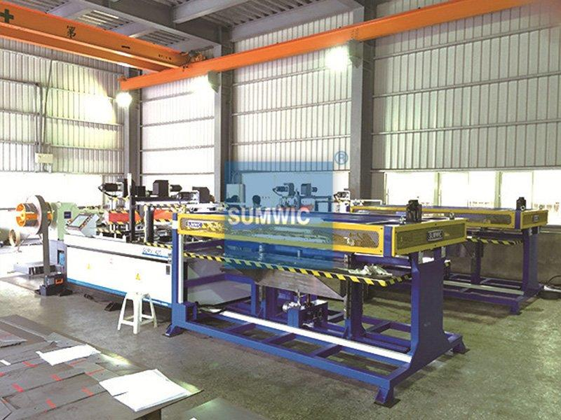 Two sets SUMWIC step lap cutting machine with Hole Punch and V Notch in Taoyuan, Taiwan