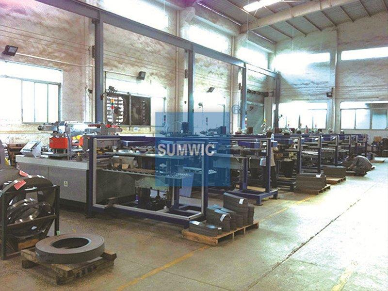 8 Sets Step lap cutting machine woks together in Foshan city
