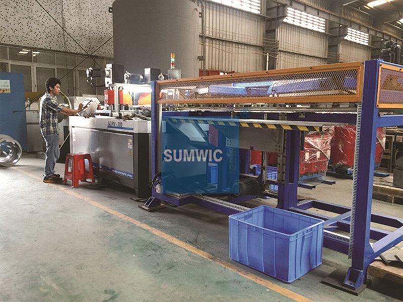 Step lap core cutting machine for distribution transformer in Guangzhou city