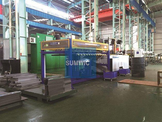SUMWIC SCRV-300 step lap cutting machine in Yiyang city, China